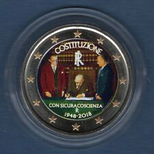 2 Euro Commémo CouIeur Color Italie 2018 Constitution Italienne - Italia
