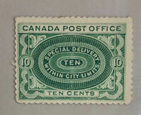 Weak UL Corner CANADA Mint Hinged SPECIAL DELIVERY Stamp #E1 (#L3956)