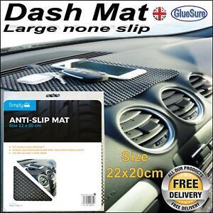 LARGE DASH MAT DASHBOARD NON SLIP GRIP ANTI SLIDE MOBILE PHONE KEYS 22X20cm