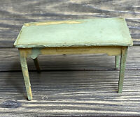 Vintage Renewal Dollhouse 1950s Green Table Replacement Part Piece
