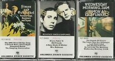 New! 3 SIMON & GARFUNKEL Cassette Lot Early Press Bookends, Wednesday, Parsley