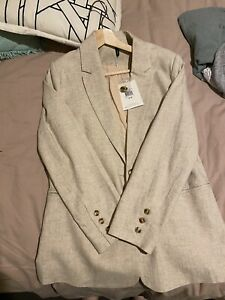 Staple The Label Linen Blazer Brand New With Tags Size 12