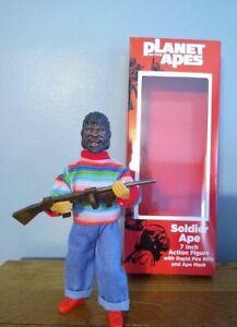 "Planet Apes Kid w/ Mask & Rifle Playset 7"" action Retro Figure-BrentzDolz Boxed"