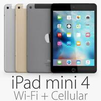 Apple iPad mini 4 16 GB, Wi-Fi+ Cellular , 7.9in - Grey/Gold/Silver