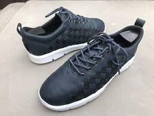 RARE SAMPLE Vans Woven Leather Shoes Blue Black OTW Mens SZ 9 Women's 10.5