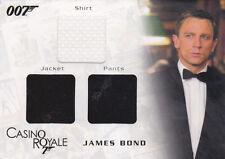 JAMES BOND IN MOTION BONDS TUXEDO SHIRT JACKET & PANTS TRIPLE COSTUME CARD TC07