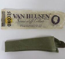 Van Heusen Collar Vintage 1920s Green Olive Drab 15.5 Semi-Stiff Style 11