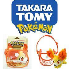 Tomy Pokemon 6 inch Petite Pals Shoulder Plush Fennekin Carrying Bag w/ Strap