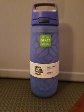 Ello Wren 26oz Glass Twisted Water Bottle - Blue - NEW