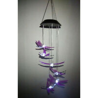 Neu Solar LED Libelle Windspiel Windharfe Windspiele für den Garten Dekor