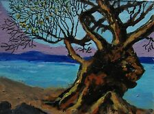 """A421    ORIGINAL ACRYLIC ACEO PAINTING BY LJH  """"APRIL MORNING"""""""