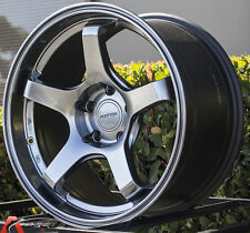 17X9 +42 ROTA RT-5R 5X114.3 HYPER BLACK WHEELS RIMS JDM AGGRESSIVE CONCAVE