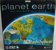 Sure-Lox ~ Planet Earth ~ 212 Piece 3D Puzzi Sphere ~ Puzzle ~ New Sealed