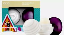 EOS Limited Edition Holiday Lip Balm Set of 2 Sugarplum & Visibly Soft - NEW