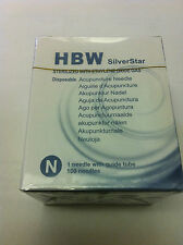 "Silver star (HBW) #40x0.25""(0.16mmx7mm) acupuncture needle 100 pcs"