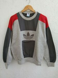 Vintage ADIDAS Sweater Descente Spell Out Logo Embrodiery Fire Birds Size S - M