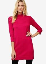 Phase Eight Tillie Turtle Neck Knitted 3/4 Sleeve Dress Fuchsia Size UK12 RRP79