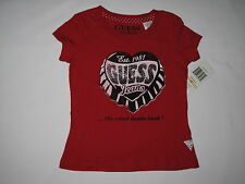 NWT GUESS T shirt GIRL size S 4 red