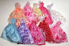 10x DRESSES For BARBIE DOLL (random selections) *** FREE POST *** UK SELLER