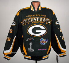 Green Bay Packers 4 -Time Super Bowl Champion Twill Jacket Size Medium Free Ship