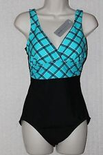 Tropical Honey,One Piece Swimsuit,Multi-Color,Striped,Nylon, 12