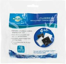 PETSAFE CURRENT FILTER 4 PACK CARBON #8 TYPE REPLACEMENT. FREE SHIP TO THE USA