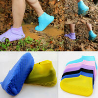 Unisex Kids Adult Silicone Waterproof Outdoor Rainproof Foldable Shoes Covers