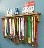 Medal Hanger / Holder / Display, With Trophy Shelf, Gift For Runners. Gymnastic