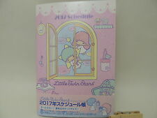 Sanrio Little Twin Stars Kiki & Lala 2017 schedule note agenda Japan new seria