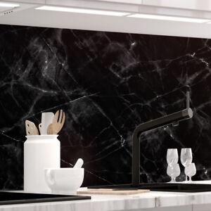 Küchenrückwand - MARMOR BLACK - selbstklebend, PRO Version, PVC 0.2mm