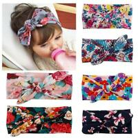 6pcs Children Baby Girls Print Knot Cross Headband Headwear Kid Hair Accessories