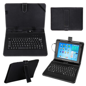 "Black Leather Case+USB Keyboard With Stand Cover for 10"" inch Android Tablet UK"