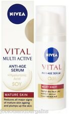 Nivea Vital Multi Active Anti-Age Serum 50ml (Soy + Hyaluronic Acid) Mature Skin