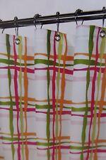 "Magic Makeover Wavy Lines Tangelo Fabric Shower Curtain 70"" x 70"" Nip"