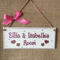 PERSONALISED CHILDRENS SHARED ROOM GIRLS/ BOYS TWINS NAME DOOR WALL PLAQUE SIGN