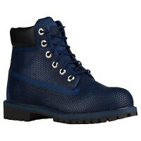 """Youth Boys Timberland 6"""" 6 Inch Exo Web Premium Boots New, Navy Blue 14HPM"""