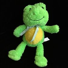 """Sweet Sprouts Animal Adventure Green Yellow Frog Plush Soft Toy 12"""" 2015 Stuffed"""