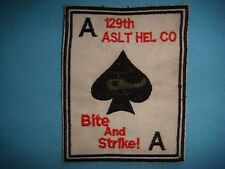 VIETNAM WAR PATCH, US 129th ASSAULT HELICOPTER Co. BIKE & STRIKE