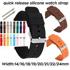 Wasserdichtes Silikon Armband 24mm 14mm 16 18 19 20mm 21 22mm Weiches Gummiband