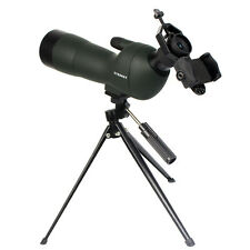 Jumelles Waterproof Angled 20-60x60 Zoom Spotting Scope+Cell Phone Mount Adapter