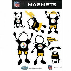 Pittsburgh Steelers Fan Family Magnet Set