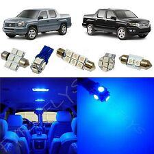 17x Blue LED lights interior package kit for 2006-2013 Honda Ridgeline HR1B