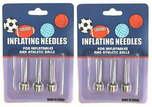 6x Ballnadel für Pumpe Ventil Nadel Basketball Fußball Luftpumpe Nadel Bälle
