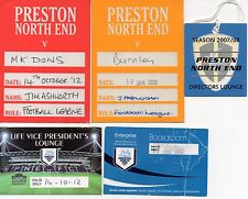 PRESTON NE FC - 2 Car Park, 3 Other Louge & Boardroom Passes 2007/12 - FOOTBALL
