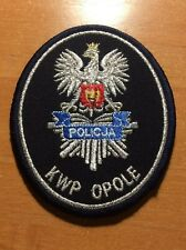 POLAND PATCH POLICE POLICJA - KWP OPOLE  - ORIGINAL