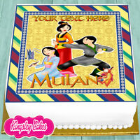MULAN PERSONALISED BIRTHDAY 7.5 INCH PRECUT EDIBLE CAKE TOPPER J535K