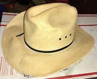Vintage Resistol  Self-conforming Cowboy Hat 4X Genuine Shantung Panama 7 1/8