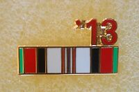 US USA '13 Afghanistan Ribbon Military Hat Lapel Pin