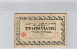 Allemagne Bavière 10 Mark 15.10.1918 Nuremberg n° 246514A