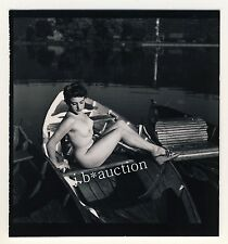 Stoccarda nudo il Max-Eyth-see Nude Girl Boating * 60s Seufert contact Print 10